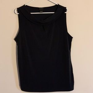 Anne Taylor Fold Over Boat Neck Shell